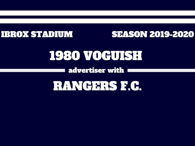 1980 Voguish announces a new business cooperation with Rangers F.C.